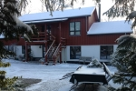 Accommodation at Albertine in the Winter with snow