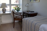 Accommodation in room two at bb Albertine Hotel