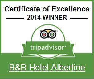 BB Hotel Albertine Certificate of Excellence at TripAdvisor