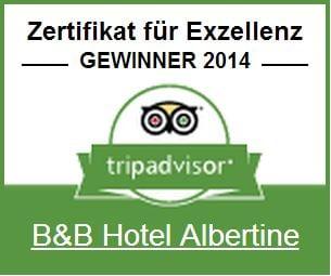 BB Hotel Albertine Zertifikat fûr Exzellenz  TripAdvisor